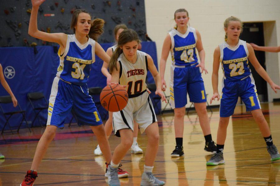 Seventh grade girls basketball beats independence